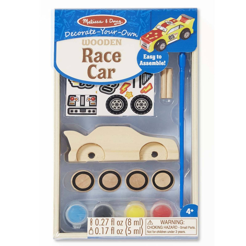 Melissa And Doug Decorate Your Own Wooden Race Car Craft Set