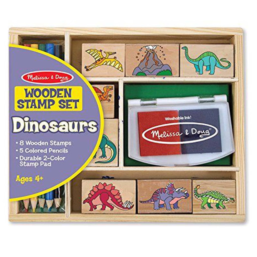 Crafts - Melissa And Doug Dinosaur Wooden Stamp Set