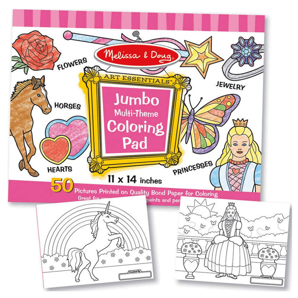 Melissa And Doug Jumbo Multi-Theme Coloring Pad