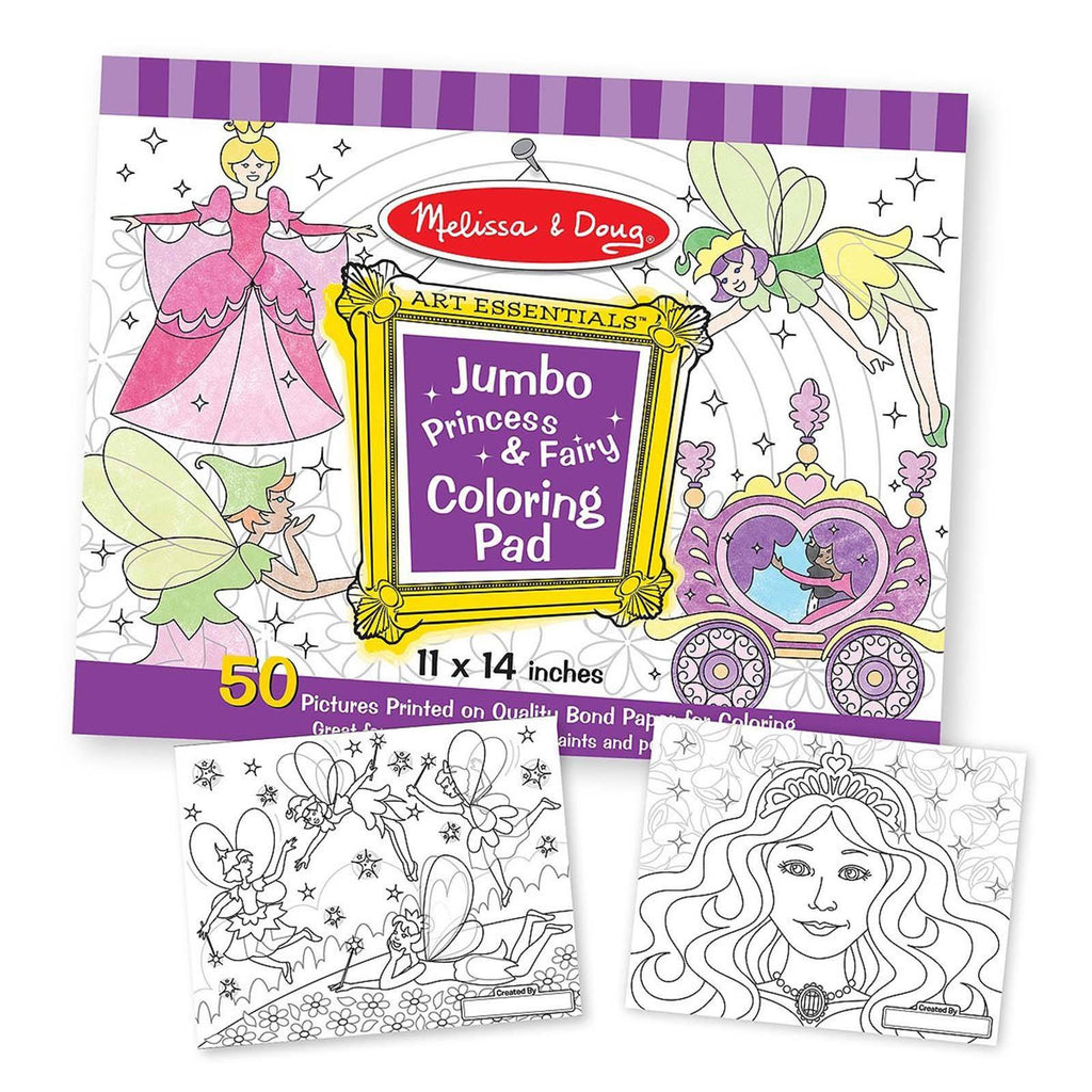 Melissa And Doug Jumbo Princess And Fairy Coloring Pad