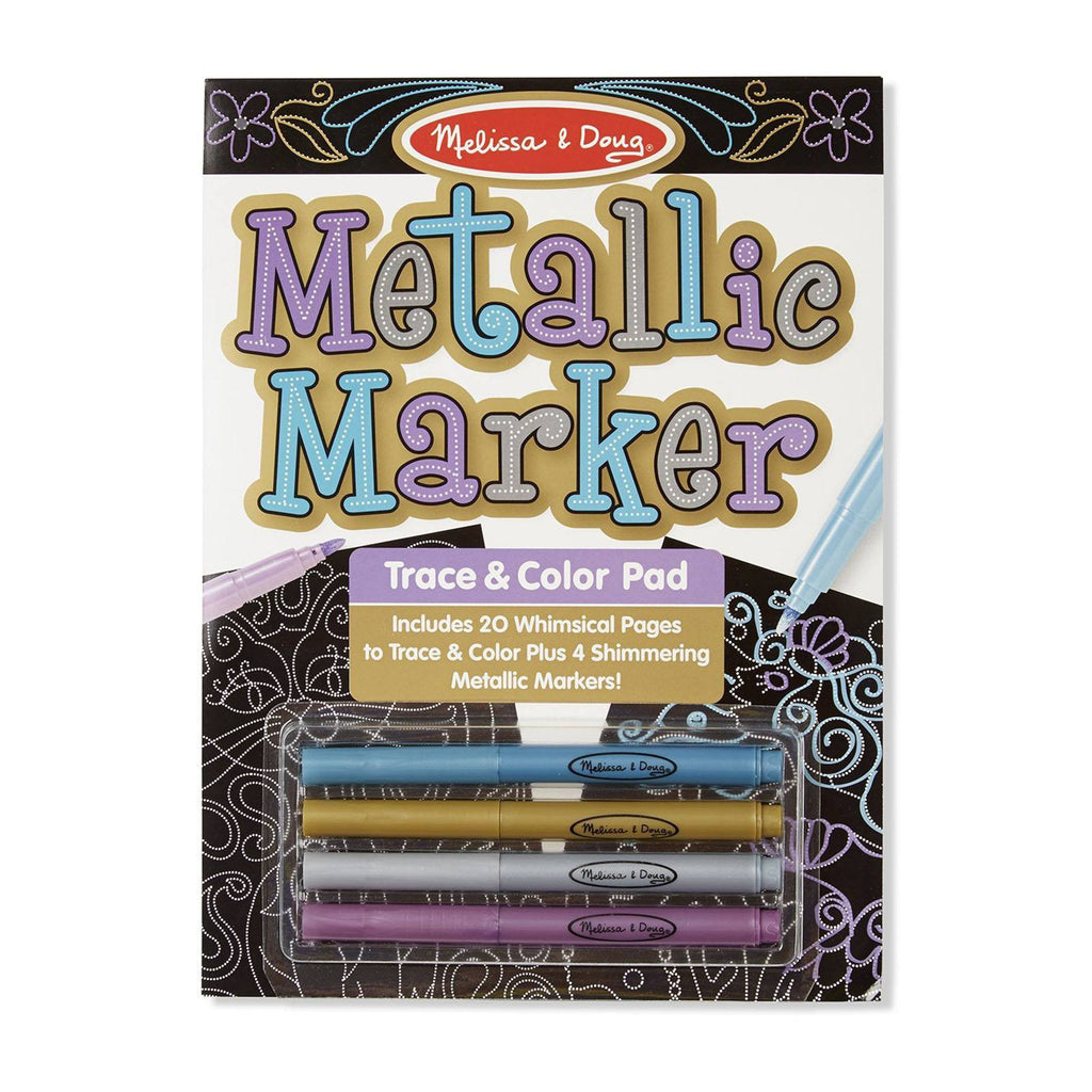 Crafts - Melissa And Doug Metallic Markers Trace And Color Pad