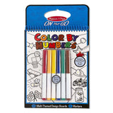 Crafts - Melissa And Doug On The Go Color By Numbers Blue Set