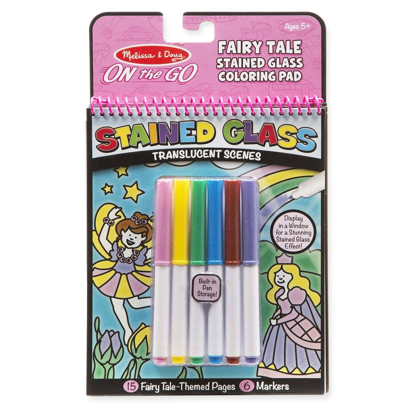 melissa and doug on the go fairy tale stained glass coloring pad - Melissa And Doug Coloring Book