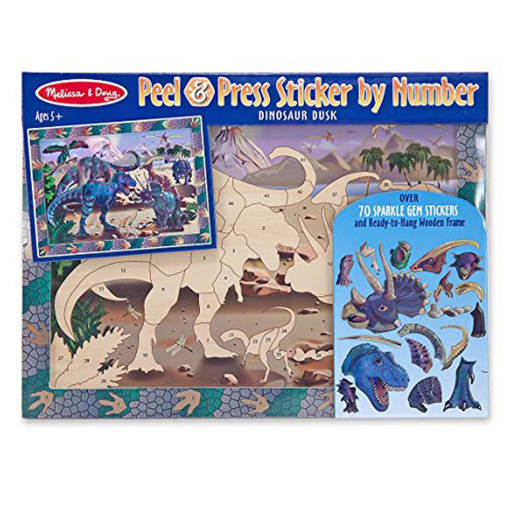 Crafts - Melissa And Doug Peel And Press Sticker By Number Dinosaur Dusk Set