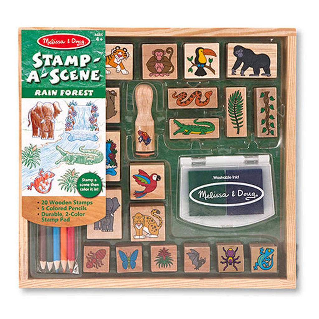 Crafts - Melissa And Doug Rain Forest Stamp A Scene Set