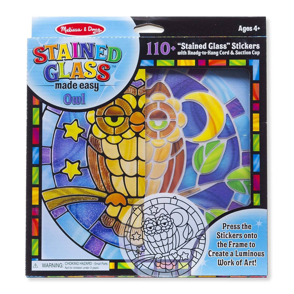 Crafts - Melissa And Doug Stained Glass Owl Craft Set