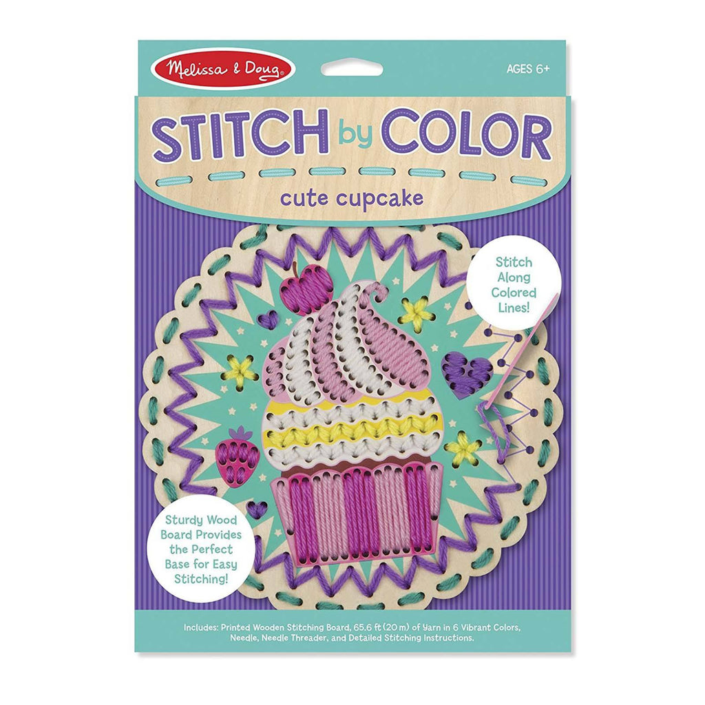 Melissa And Doug Stitch By Color Cute Cupcake Craft Set