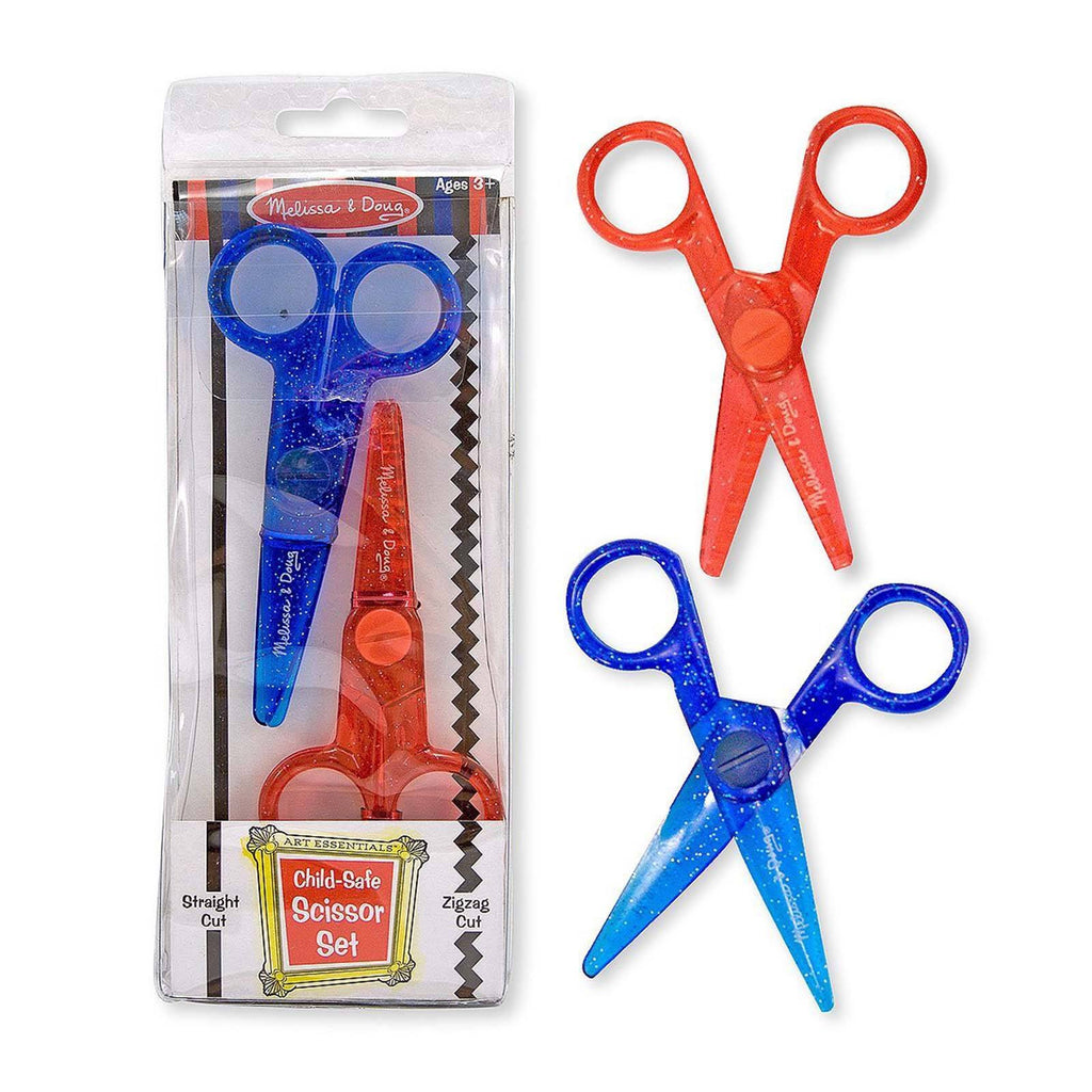 Crafts - Melissa And Doug Straight And Zigzag Cut Child Safe Scissors Set