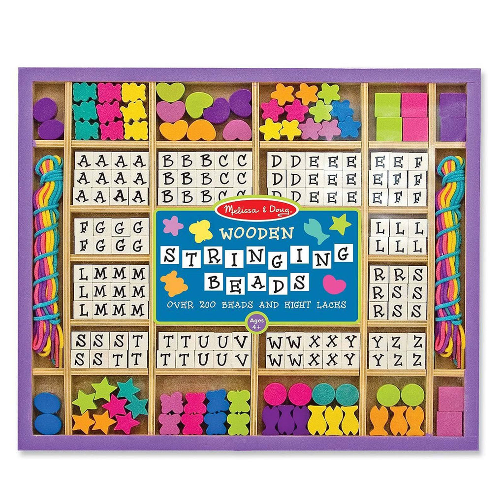Melissa And Doug Wooden Stringing Beads Craft Set