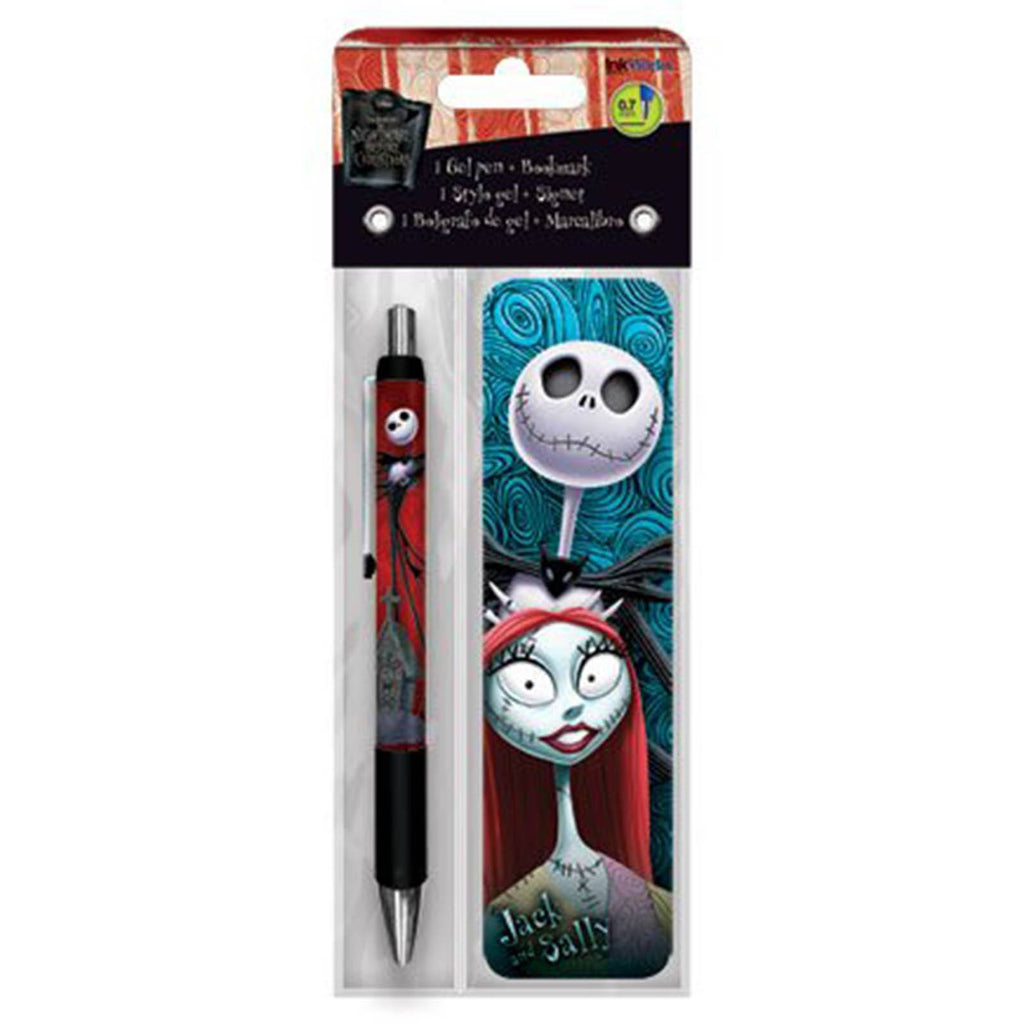 Nightmare Before Christmas Jack And Sally Bookmark And Pen Set