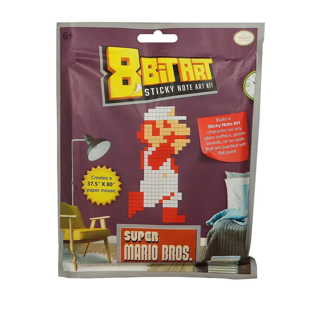 Super Mario Classic Fire Mario 8 Bit Sticky Note Art Kit