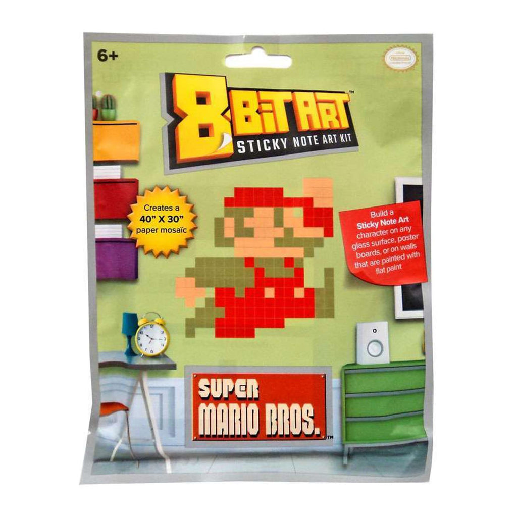 Super Mario Classic Jumping 8 Bit Sticky Note Art Kit