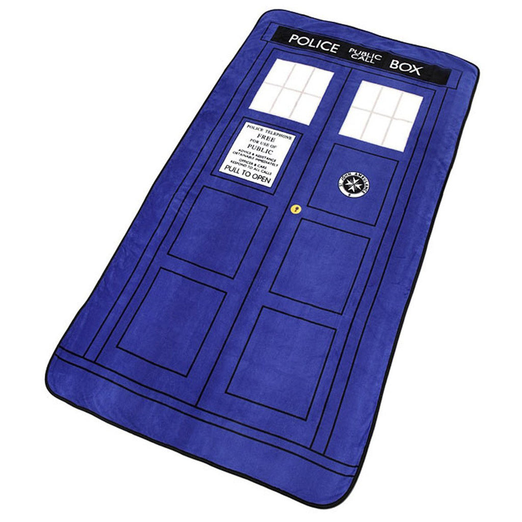 Doctor Who Large Tardis Micro Raschel Throw Blanket