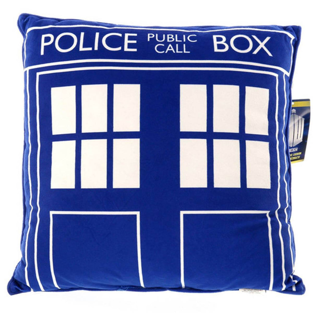 Doctor Who Tardis Square Cushion Pillow