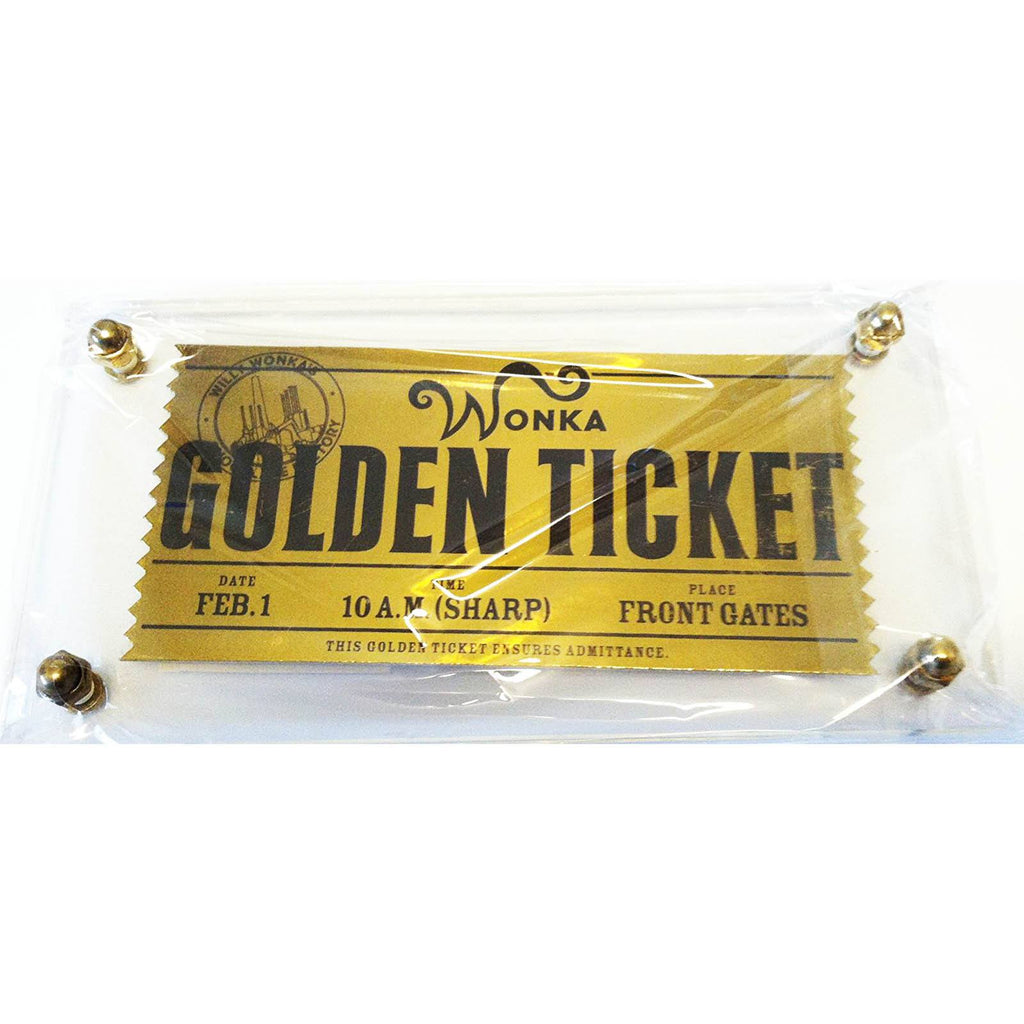Willy Wonka And The Chocolate Factory Golden Ticket Replica