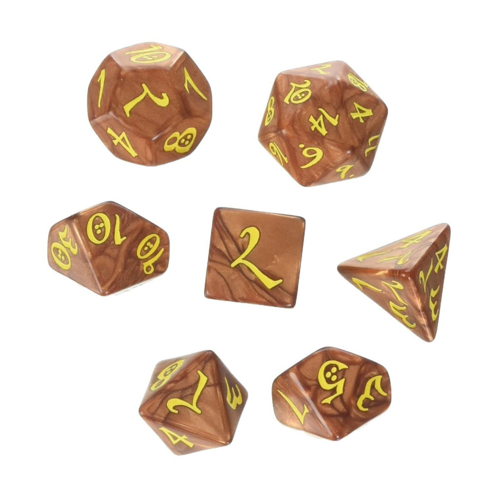 Q-Workshop Classic RPG Karamel Yellow 7 Piece Dice Set