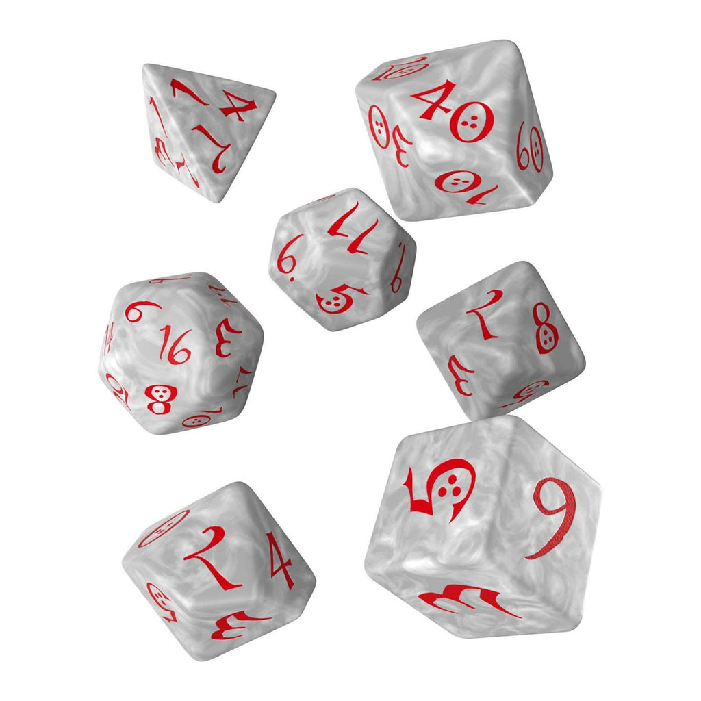 Q-Workshop Classic RPG Pearl Red 7 Piece Dice Set