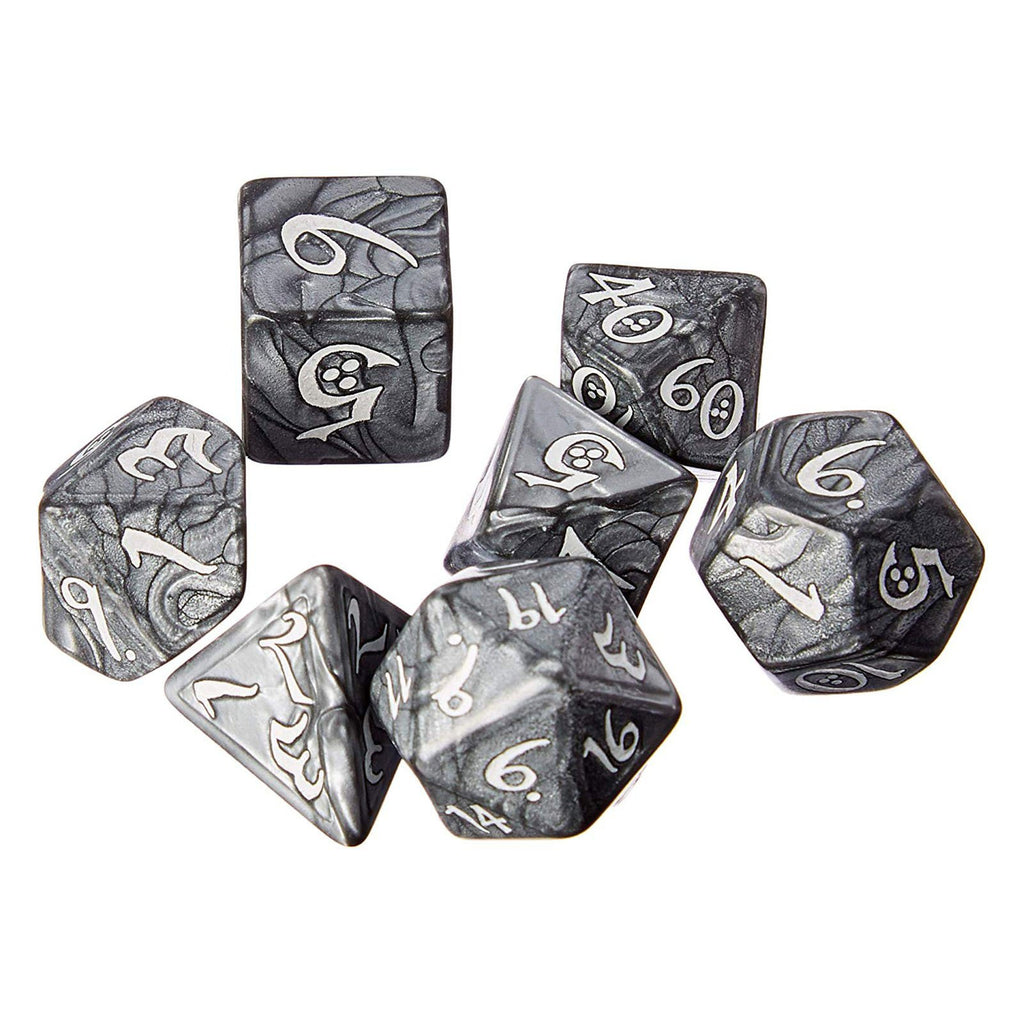 Q-Workshop Classic RPG Smoky White 7 Piece Dice Set
