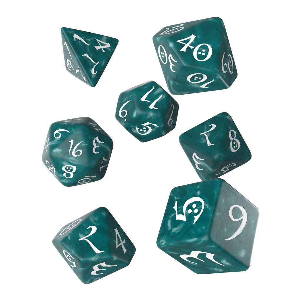 Q-Workshop Classic RPG Stormy White 7 Piece Dice Set