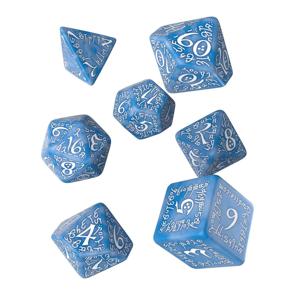 Q-Workshop Elvish Glacier White 7 Piece Dice Set