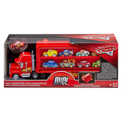 Die Cast - Disney Cars Mini Racers Mack Transporter Set
