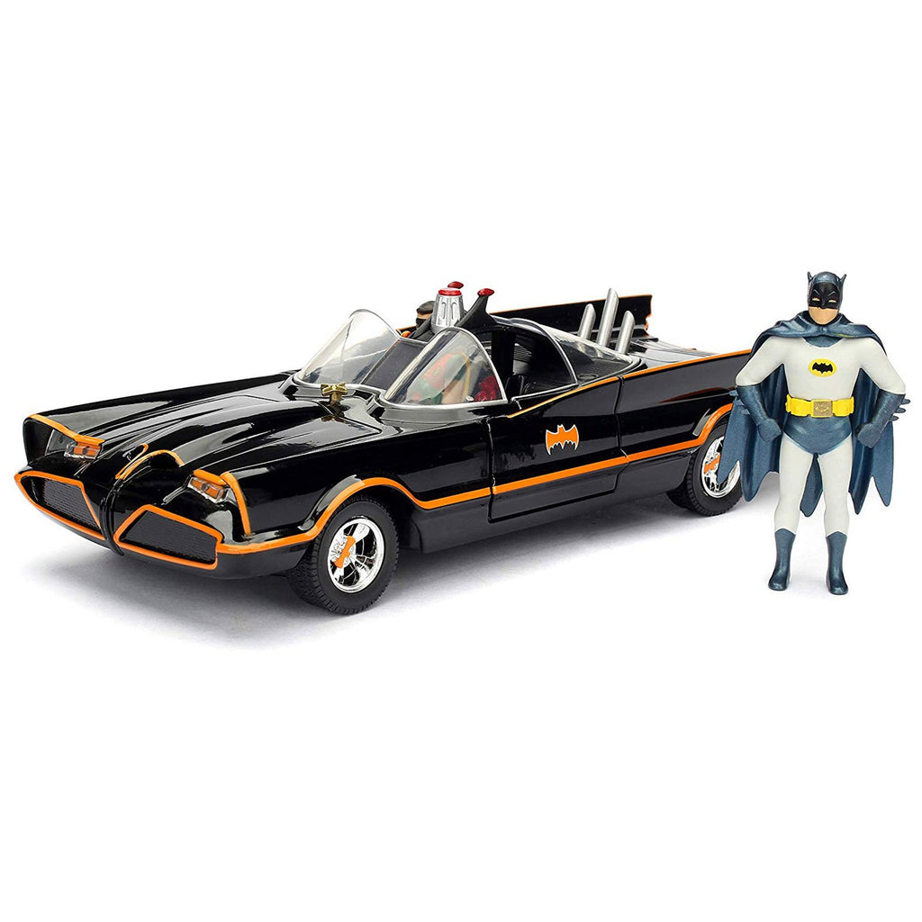 Jada Toys DC Hollywood Rides Build N' Collect 66' Batmobile Batman Set