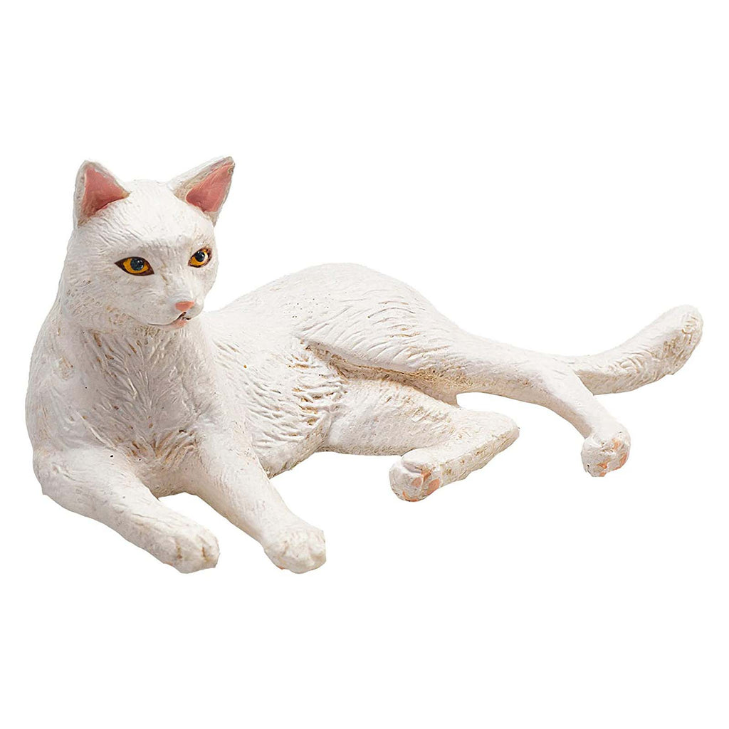 MOJO Cat Lying White Animal Figure 387368
