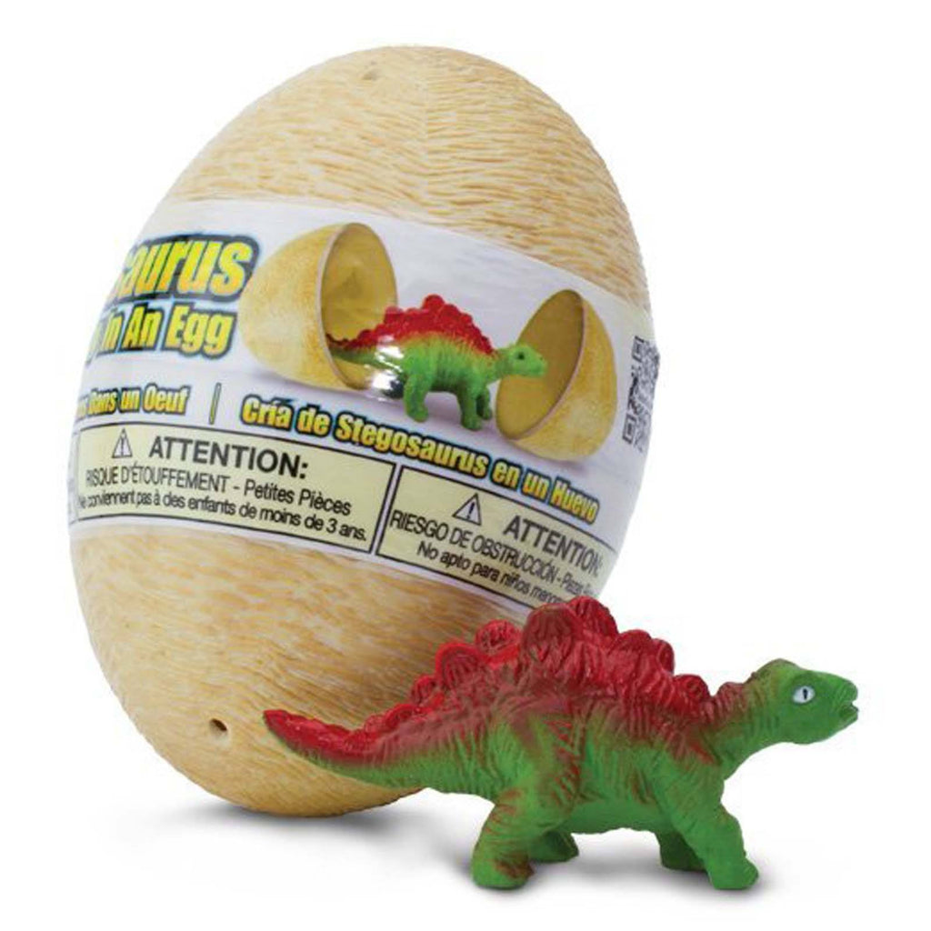 Stegosaurus Baby In An Egg Dinosaur Figure Safari Ltd