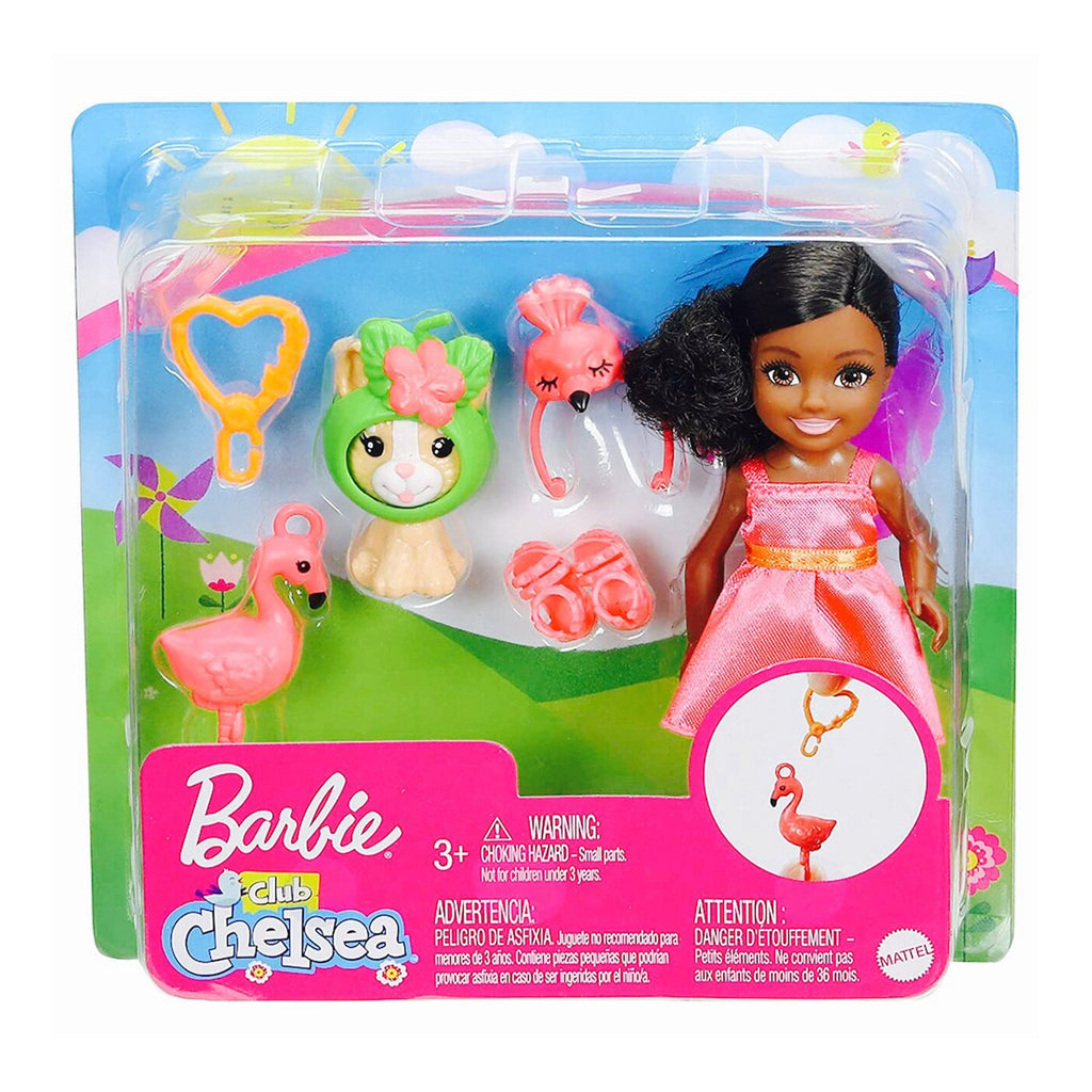 Barbie Chelsea Club With Flamingo Costume And Pet Doll Set
