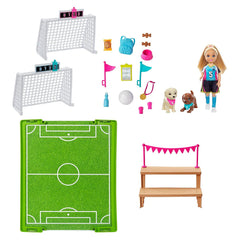 Dolls - Barbie Chelsea Soccer Playset