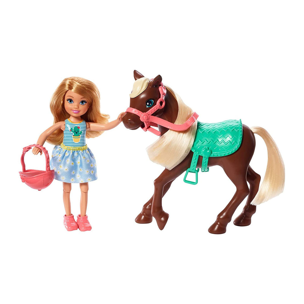 Barbie Club Chelsea With Horse Figure Set