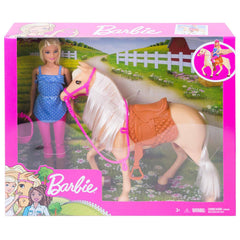 Dolls - Barbie Doll With Horse Set