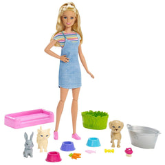 Dolls - Barbie Plan 'N' Wash Pets Doll And Playset