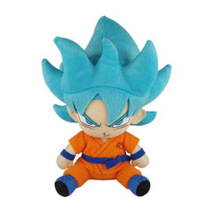 Dragon Ball Z Plush Toys - Dragon Ball Super SSGSS Goku Sitting Pose 7 Inch Plush Figure