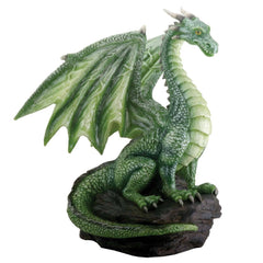 Green Dragon On Rock Summit Collection Resin Figure - Radar Toys