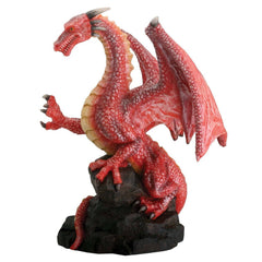 Red Dragon On Rock Summit Collection Resin Figure - Radar Toys