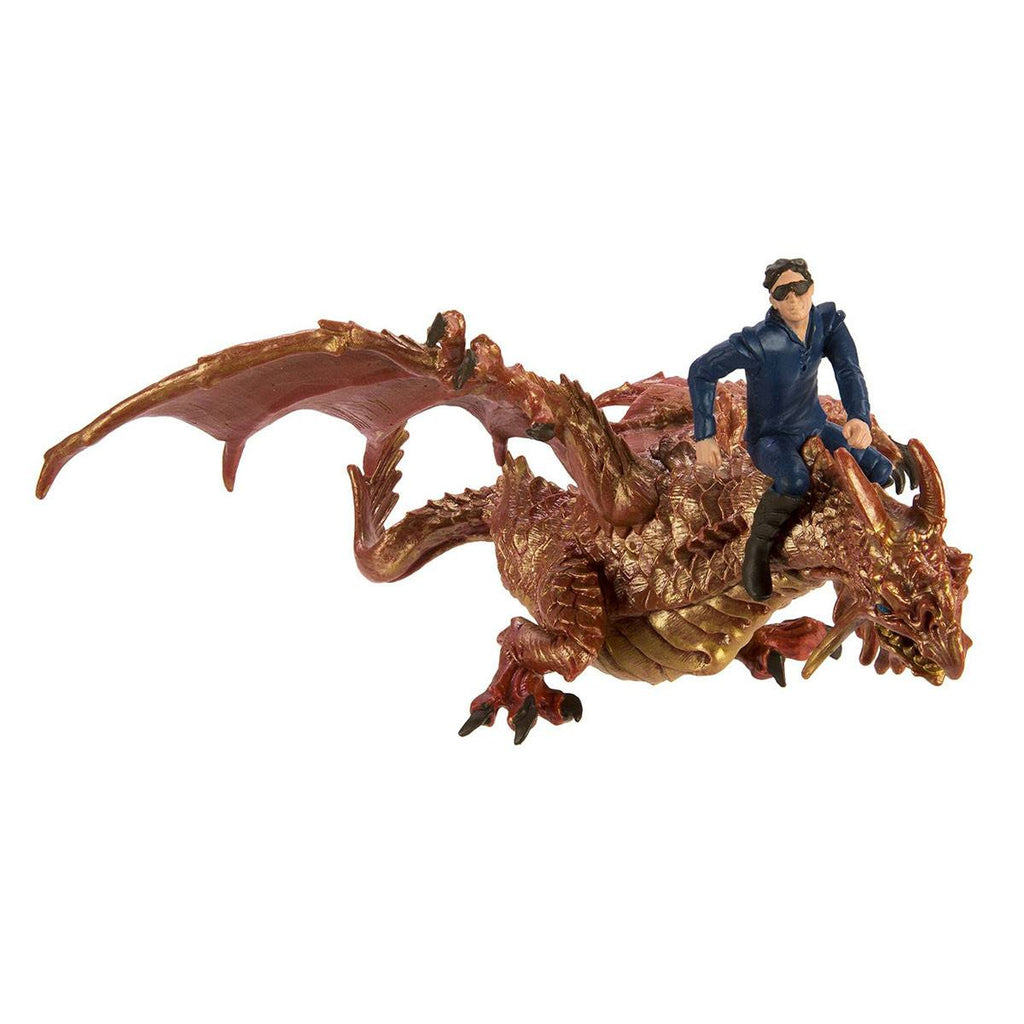 Thunder Dragon With Drake Set Fantasy Figure Safari Ltd - Radar Toys