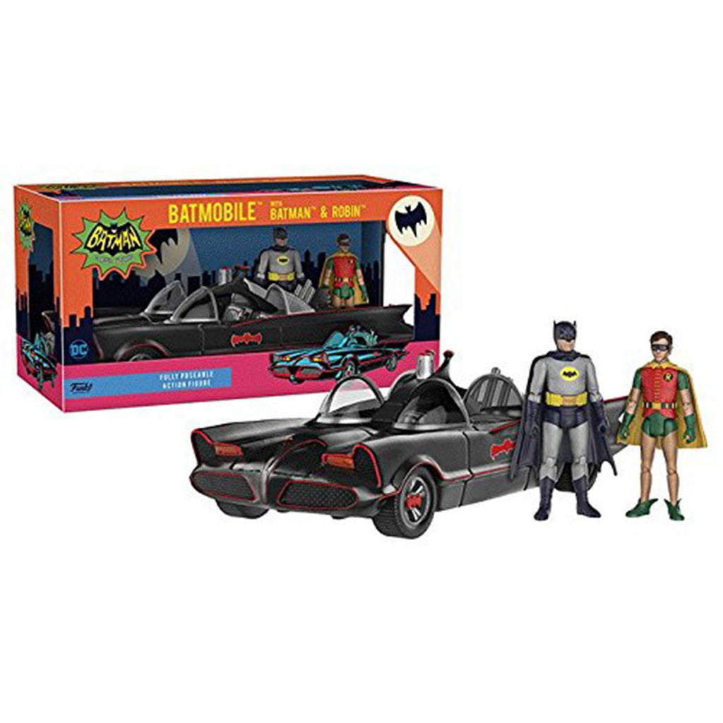 Funko Batman 1966 Batmobile With Batman And Robin Figure Set