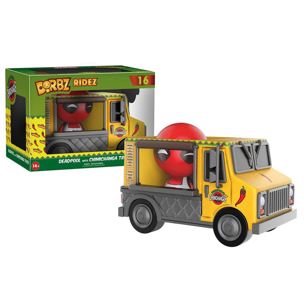 Funko Marvel Dorbz Deadpool With Chimichanga Truck Vinyl Figure