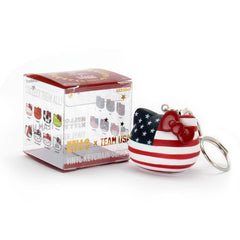 Kidrobot Hello Kitty Team USA Vinyl Blind Keychain Figure