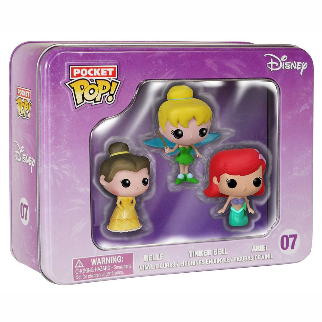 Disney Pocket POP 3 Pack Princesses Vinyl Figures - Radar Toys