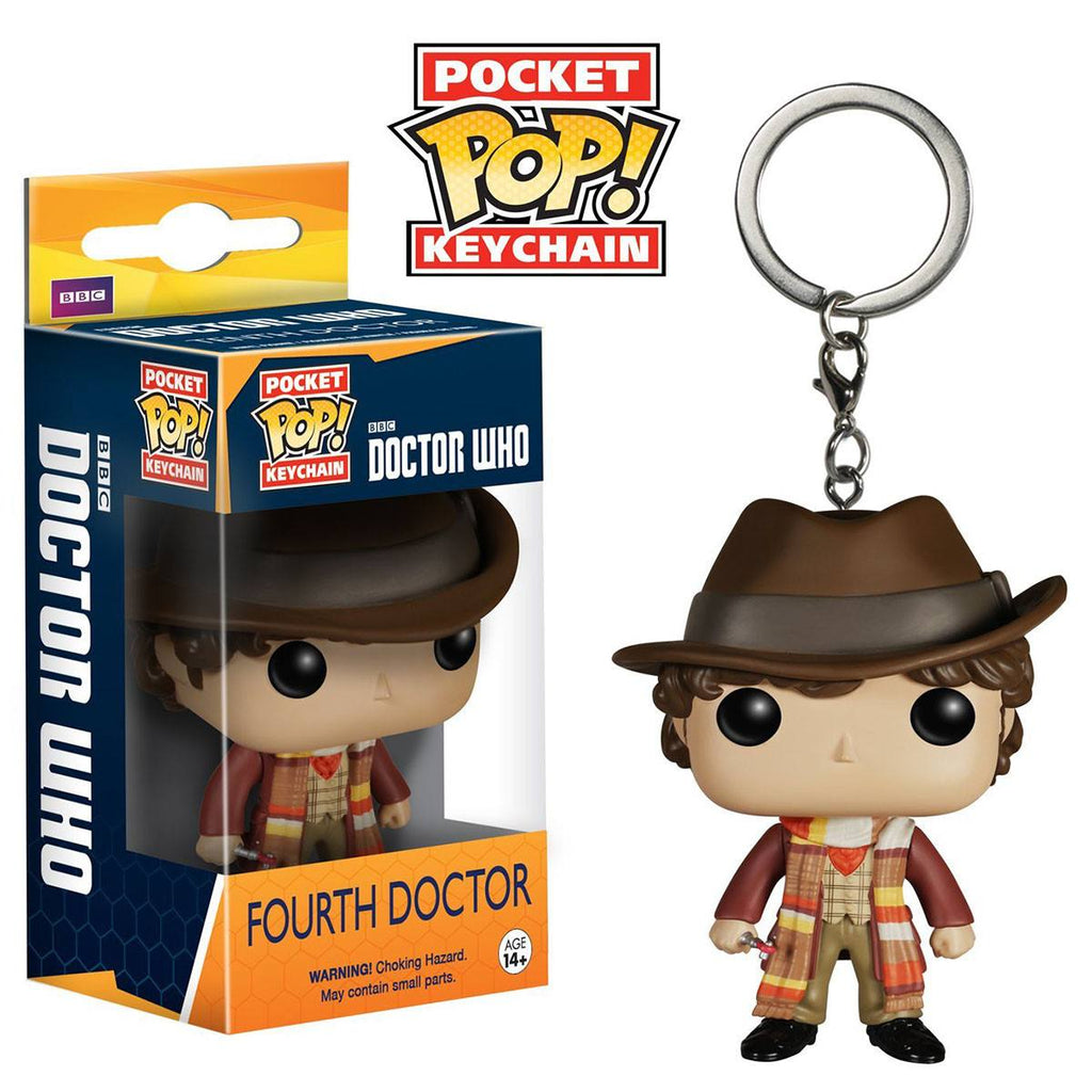 Doctor Who Pocket POP Fourth Doctor Vinyl Figure Keychain - Radar Toys
