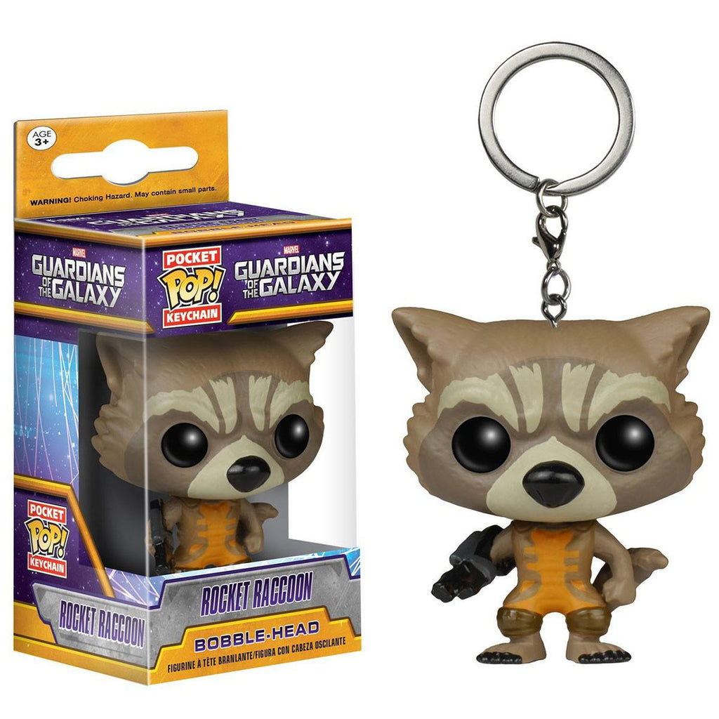 Guardians Of The Galaxy Pocket POP Rocket Raccoon Vinyl Figure Keychain