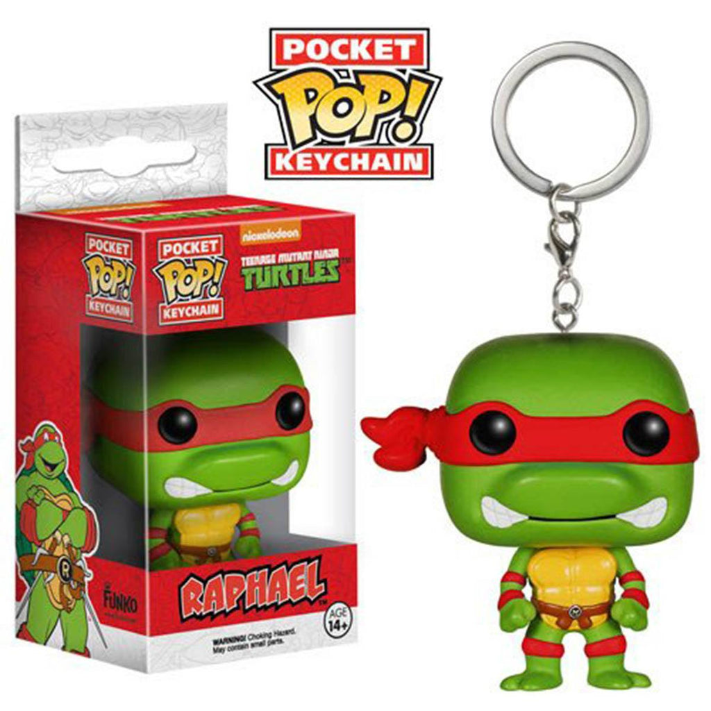 Teenage Mutant Ninja Turtles Pocket POP Raphael Keychain - Radar Toys