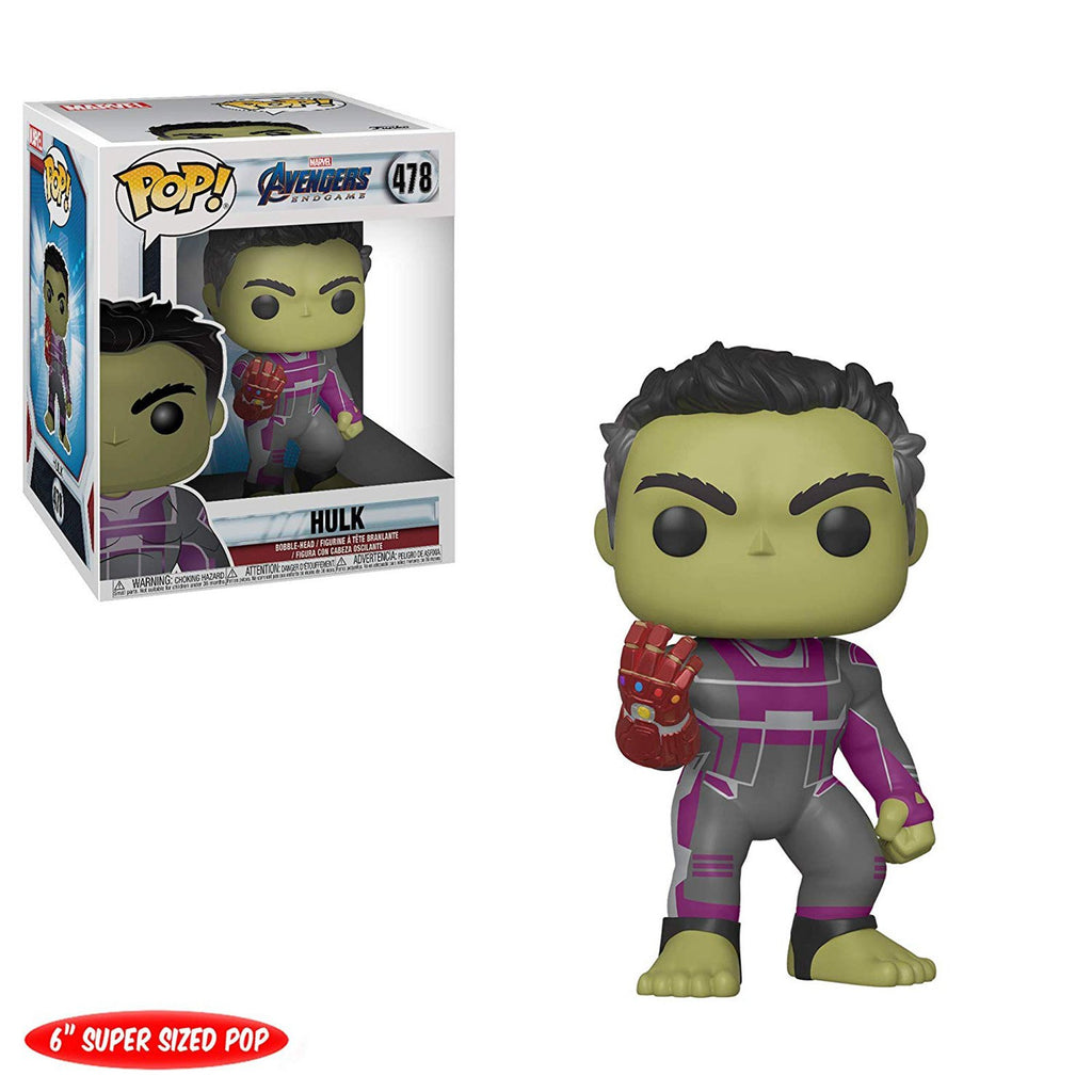 Funko POP Vinyl - Funko Avengers Endgame POP Hulk With Gauntlet Vinyl Figure Set