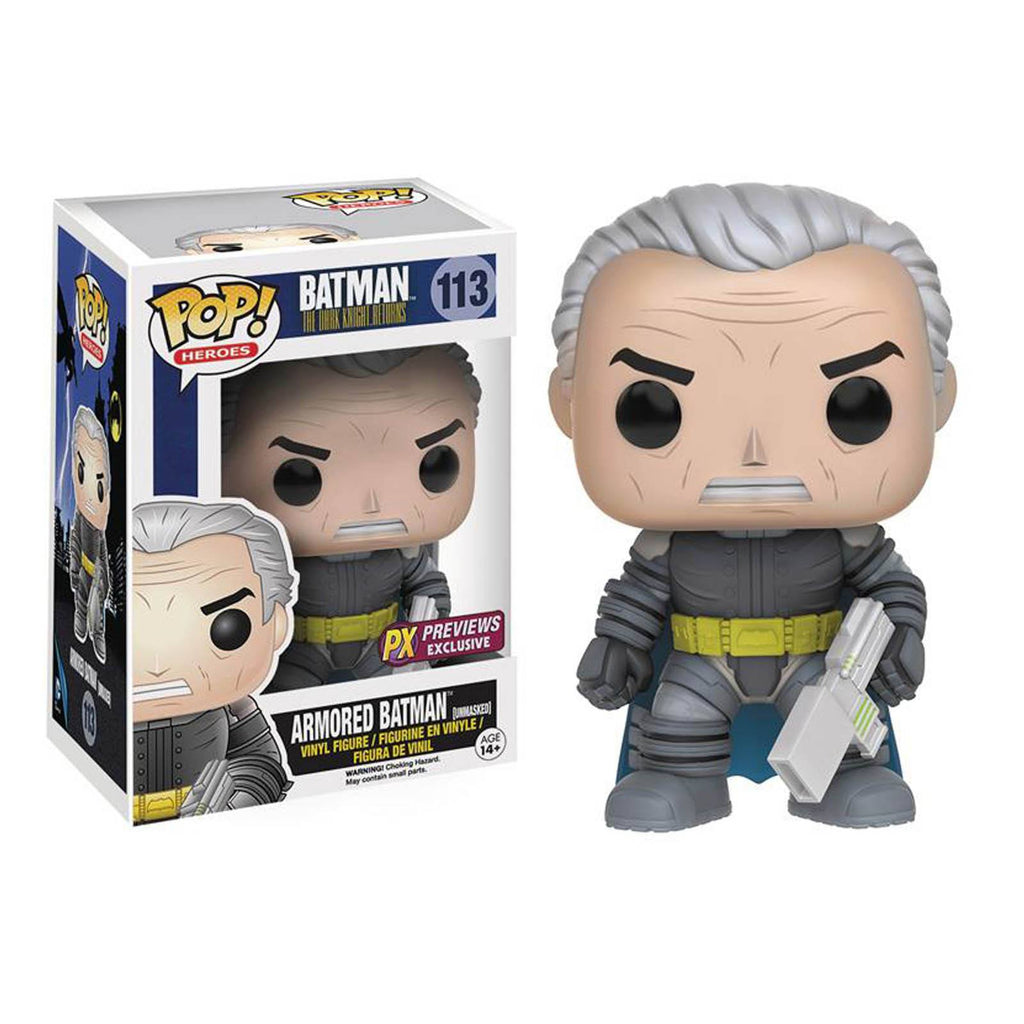 Funko Dark Knight Returns PX Exclusive POP Armored Batman Unmasked Vinyl Figure