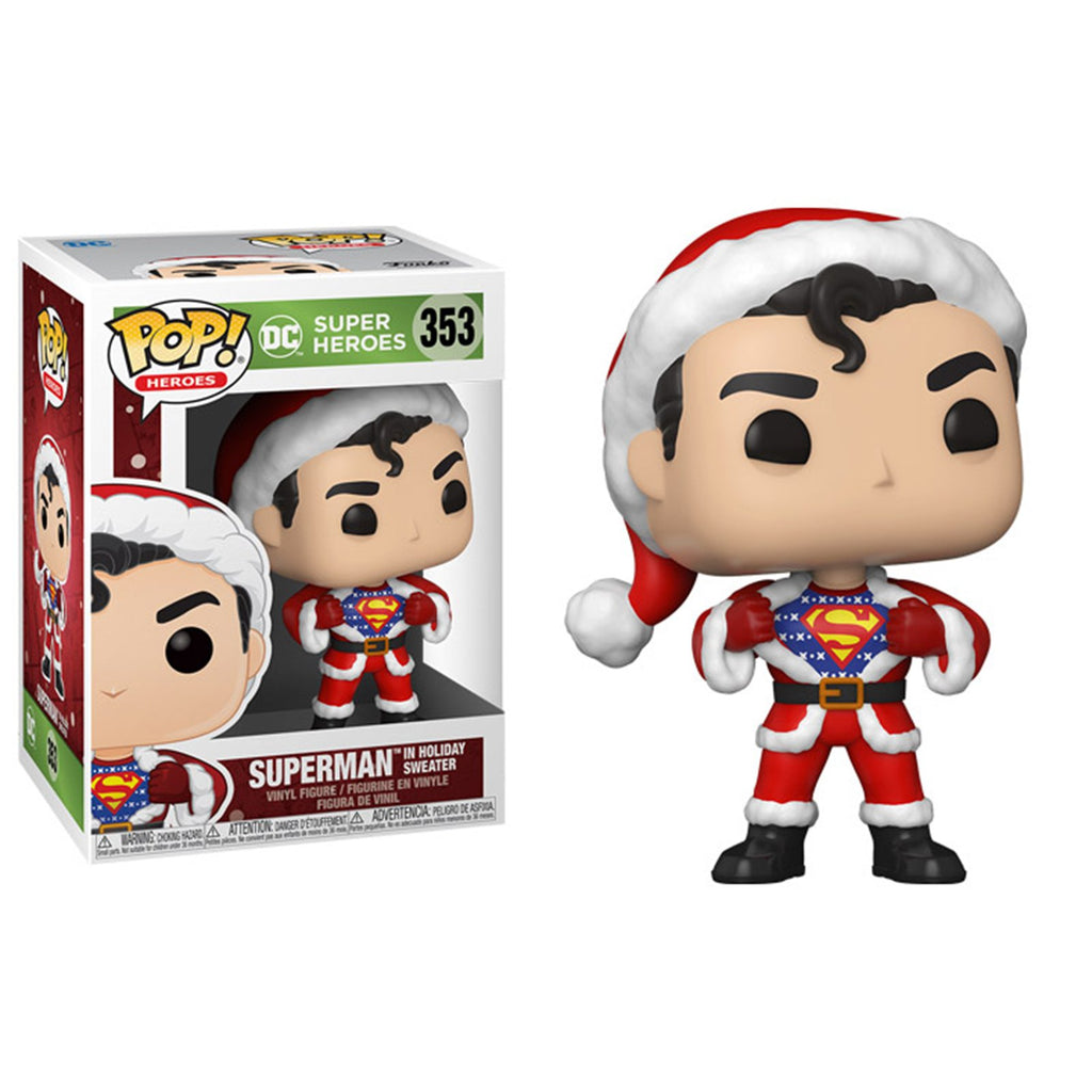 Funko DC POP Holiday Superman In Sweater Vinyl Figure