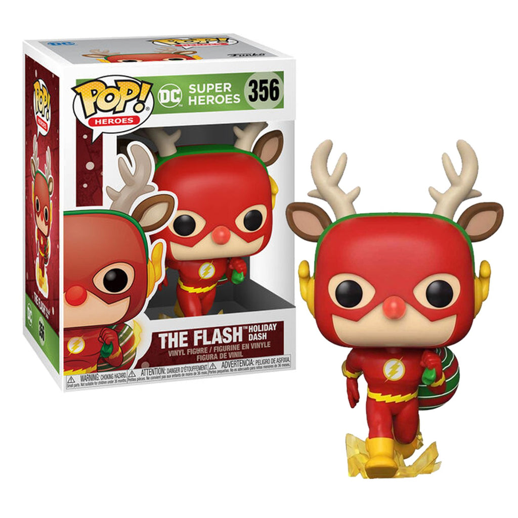 Funko DC POP Holiday The Flash Rudolph Dash Vinyl Figure