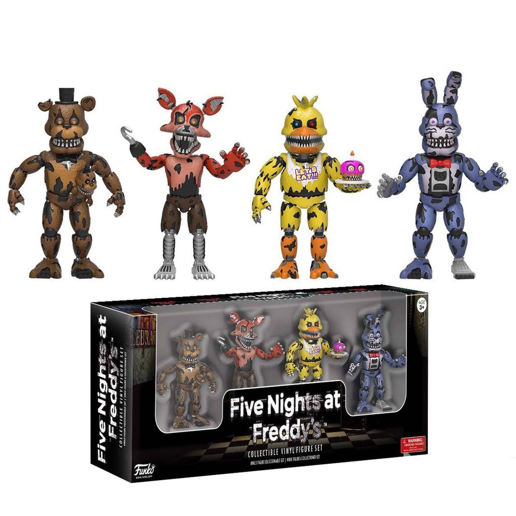 Funko Five Nights at Freddy's 4 Pack Set Three Vinyl Figures