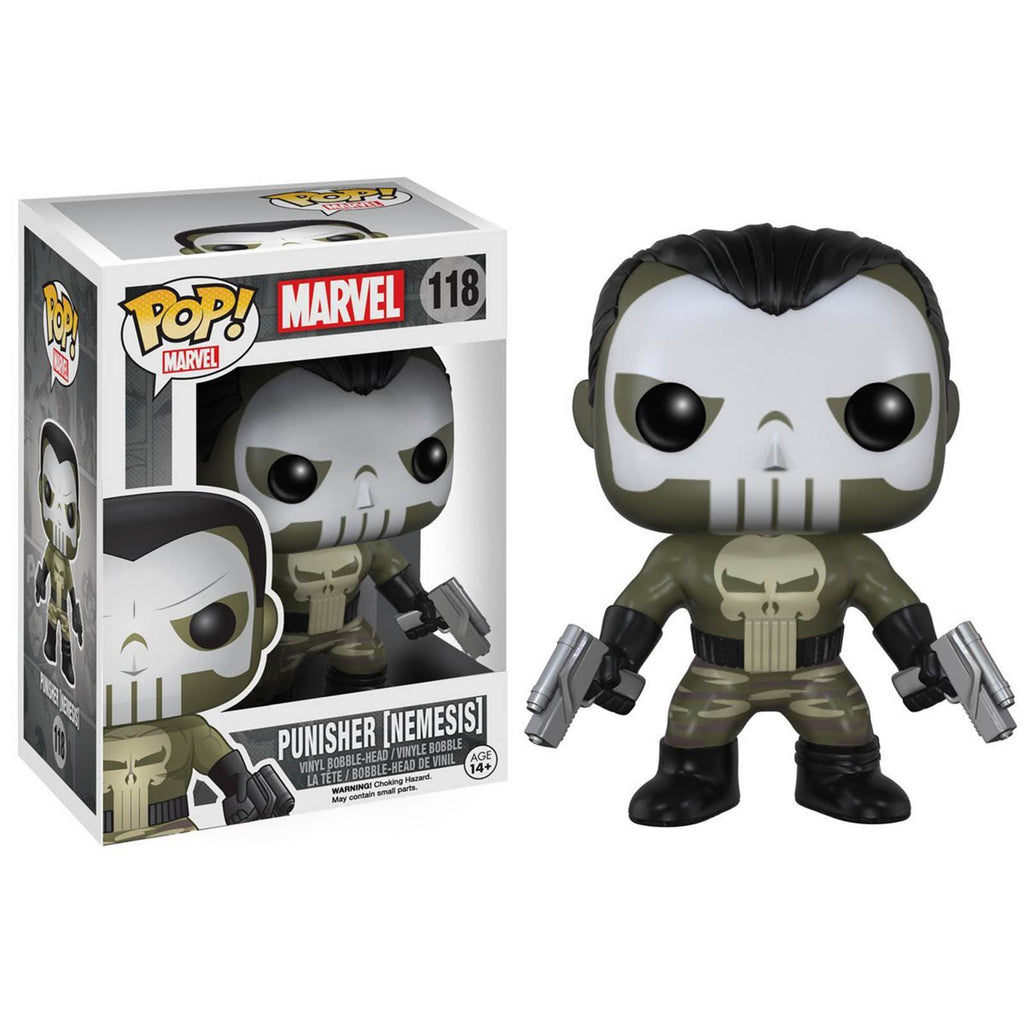 Funko Marvel Punisher POP Nemesis Punisher Bobble Head Vinyl Figure - Radar Toys
